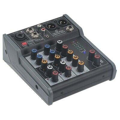 Soundsation MIOMIX 104 Mixer Audio Passivo 5 Canali con Effetto Eco Digitale