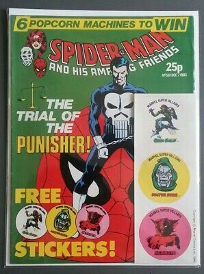 Spider Man Weekly #561 With Free Gift Marvel Uk Comics 1983 Rare