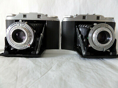 2 Agfa Isolette 3 Cameras 1Solinar 1 APOTAR With Cases - Vintage condition