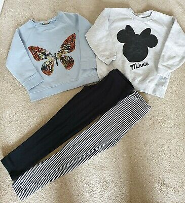 Girls Clothes Bundle Jumpers and Leggings 5-6 Years