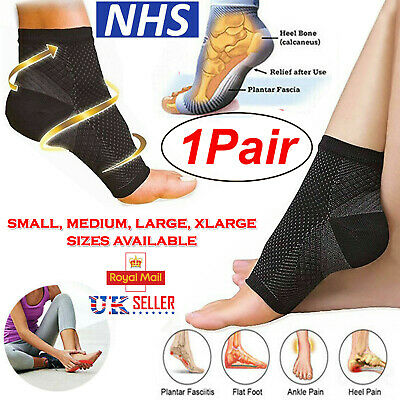 2x Plantar Fasciitis Socks Compression Foot Arch Support Pain Ankle Relief Pair
