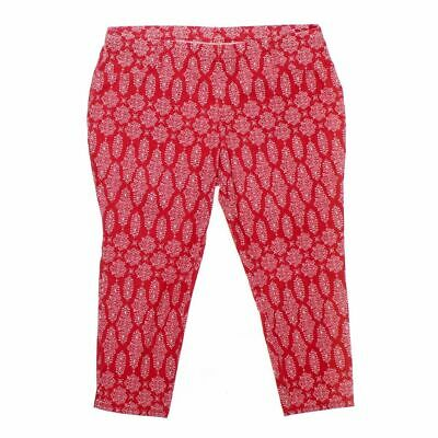 Faded Glory Women's Capri Pants size XXL,  red, pink,  cotton, polyester