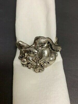 Arthur Court Bunny Rabbit Napkin Rings Set of 4 Released 1995. 12 Total Avail.