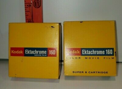 2 BOXES of VINTAGE KODAK EKTACHROME 160 MOVIE FILM TYPE A 50FT SEALED 1973