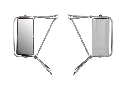 Set of  Chrome Arm Assembly w/ Stainless Steel West Coast Mirror