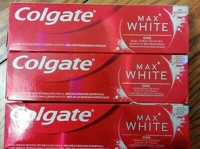 COLGATE MAX WHITE One Toothpaste 75ml 3 packs