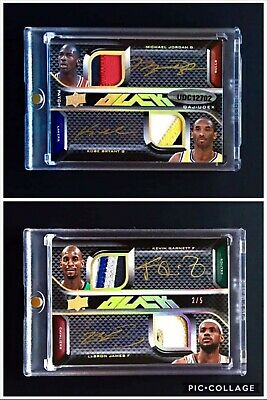 2008 UD Black Michael Jordan Kobe Bryant Lebron James Kevin Garnett Patch Auto
