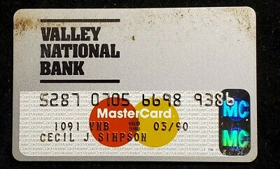 Valley National Bank Arizona MasterCard exp 1990 ♡Free Shipping♡cc896♡