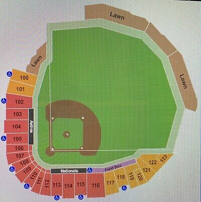 4 Washington Nationals vs NY Mets Sec 114 Row H Aisle Tickets 3/17/20