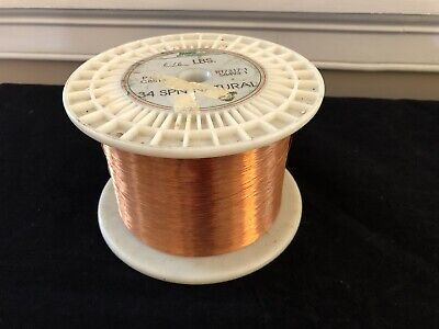 MWS Copper Magnet Wire 34 AWG SPN Natural 6lbs