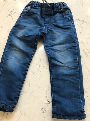 Boys Lined Jeans Blue From Next Size 3-4 Years