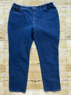 """Lee Side Elastic At The Wasit Plus Size 24 Medium Womens Jeans Waist: 40"""""""