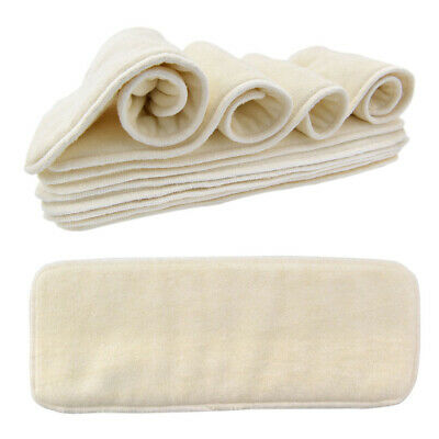 Reusable 5 Layers Bamboo Fiber Soft Baby Nappy Water Absorbent Diaper Durable