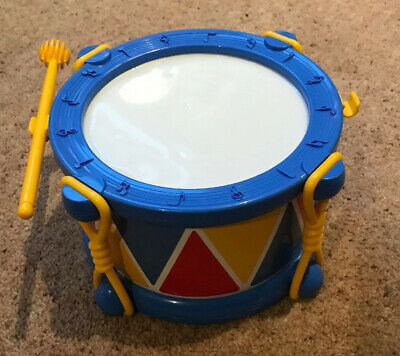 Baby Toy Drum With Drumstick - VGC