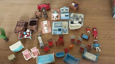 vintage playmobil bundle victorian house furniture and figures 1980s