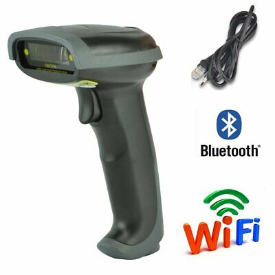 USB Bluetooth Wireless Barcode Scanner Automatic Laser Scanner Gun POS Reader US