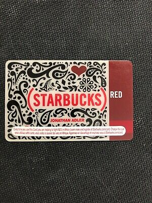 Starbucks gift card - 2010 - (RED) Jonathan Adler - Canada Edition
