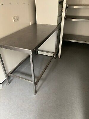 stainless steel catering table used
