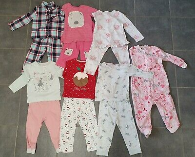 Girls Pyjama Pj Bundle Age 2-3 Years Nutmeg Next The Little White Company Etc