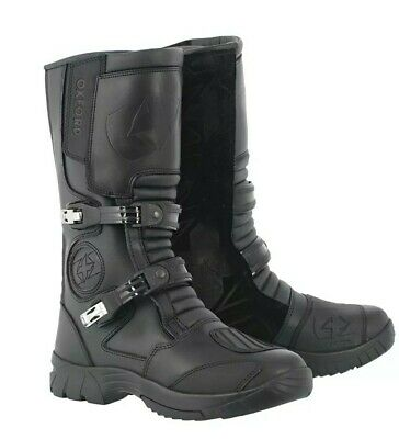 Oxford Explorer Adventure Mens waterproof Black Motorcycle motorbike Boots