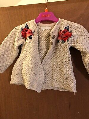 zara baby girl cardigan, 9-12 Month