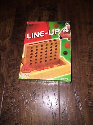 """""""Line Up 4 """" Wooden Travel Game By Halsall Time 4 Toys-Immaculate"""