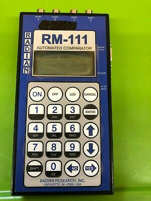 Radian Research RM-111 Automated Comparator Testing Watthour Billing Meter USED