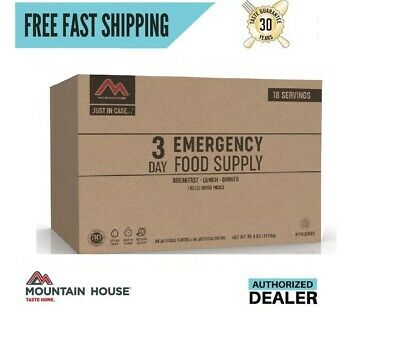 New 2020 Clean Label Mountain House Just in Case...® 3 Day Emergency Food Supply