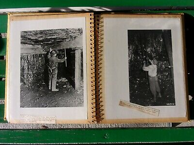 Vintage Photo Book Coal Mining Roof Safety Pictures Homemade Old Photographs