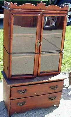 Antique Country Child's Step Back Cupboard / Spice Cabinet