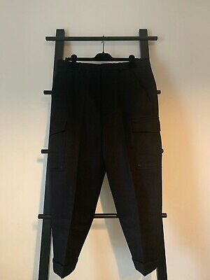 AMI Paris Mens FW16 OVERSIZED CARROT FIT TROUSERS Size 42 Dark Navy