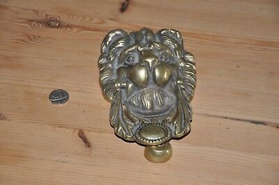 Brass Lion Door Knocker Vintage/Antique - Very Heavy Quality