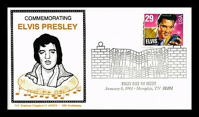 Dr Jim Stamps Us Elvis Presley Graebner Chapter 17 First Day Cover