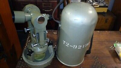 WILD HEERBRUGG T2 +  Bullit Case Theodolite #92190  Switzerland SURVEYING vtg