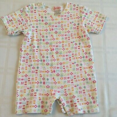 NWT Zutano Infant Girl My Pony Baby Long Sleeve Horse Wrap One-Piece 9 Months