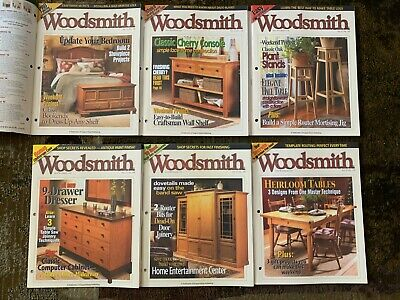 Woodsmith™ Magazine Volume 25, Issues 145,146,147,148,149,150 Woodworking Plans