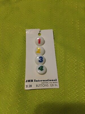 Vintage JHB International Colorful Number Buttons