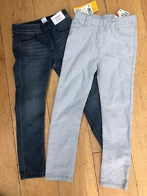 NEW GAP girls Age 5 Jeans Trousers Bundle Leggings Blue Sparkly Two Pairs