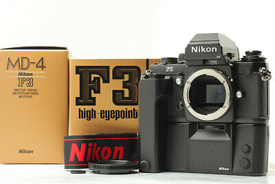 [Almost mint in Box 197xxxx] Nikon F3HP F3 HP Body + MD-4 Motor Drive From JAPAN