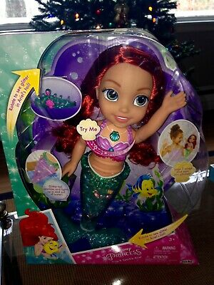 DISNEY PRINCESS Sing and Sparkle ARIEL Doll ~ The Little Mermaid  NEW & SEALED!