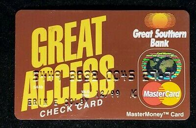 Great Access Great Southern Bank credit card exp 1999♡Free Shipping♡cc966♡