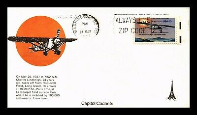 Dr Jim Stamps Us Second Day Charles Lindbergh Solo Flight Cover Scott 1710