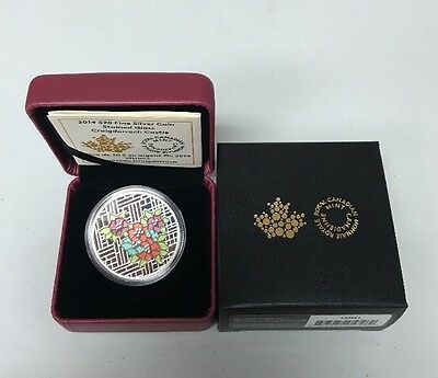 New! 2014 $20 Fine Silver Coin Stained Glass Craigdarroch Castle RCM