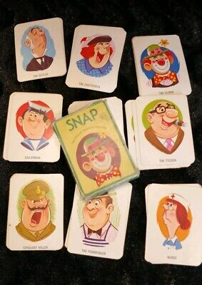 VINTAGE SNAP CARD Game - British Made - £9.99 | PicClick UK