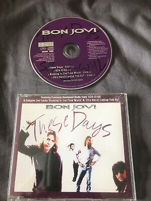 Bon Jovi - These Days CD Single With Exclusive Tracks