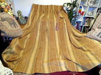 """PAIR SUPER THICK ROBUST CHENILLE CURTAINS-LINED-74""""Wx76""""-PINCH PLEAT EACH 28"""""""