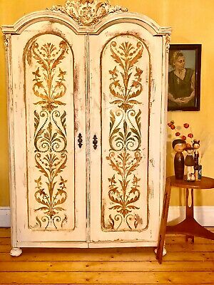 Vntage French Armoire /Wardrobe With Inlaid Boiserie Panels