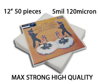 50 Plastic LP Outer Sleeves 5 Mil.  Vinyl Record Album Covers MAX STRONG QUALITY