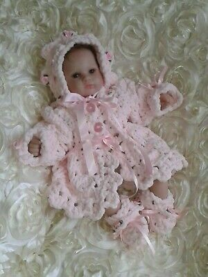 Beautiful hand knitted baby outfit / Matinee Outfit  / Early baby /  Premature