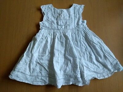 NEXT White Paisley Crochet Lace Summer Baby Girls Occasion Dress 9-12 Months